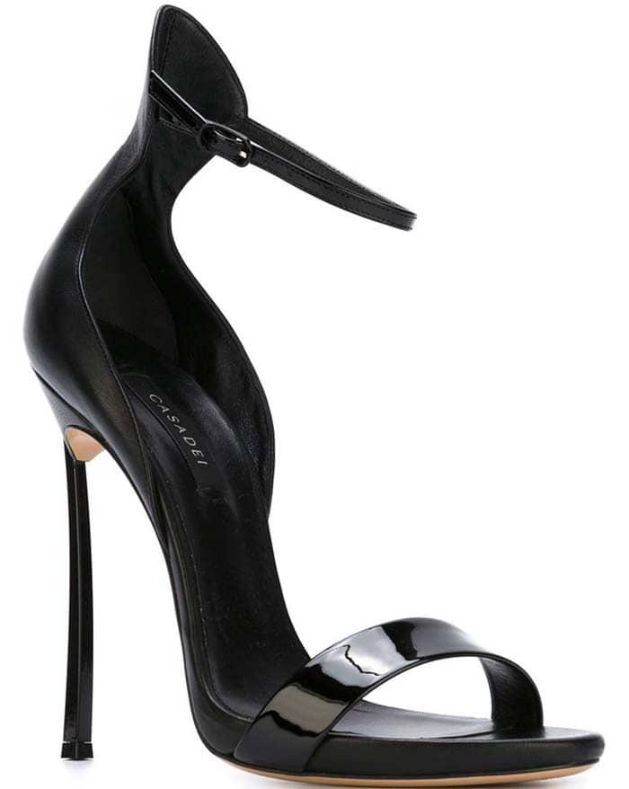 Casadei Blade Sandals Black
