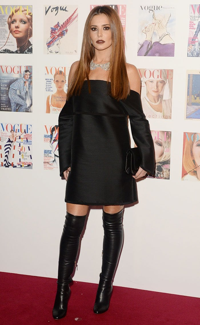 Cheryl Cole Femme Fatale In Jimmy Choo Toni Leather Boots