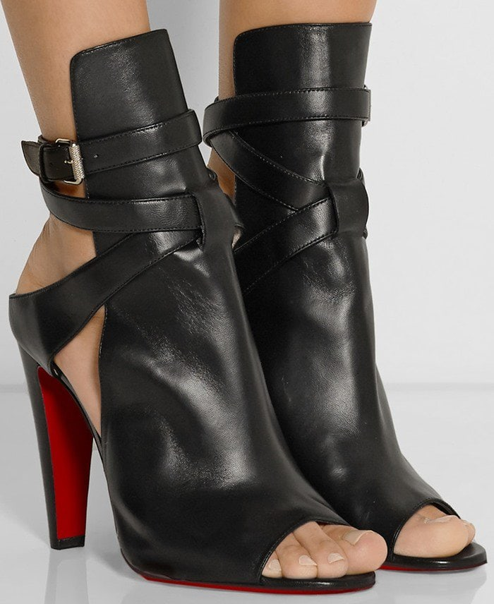 Christian Louboutin Hippik 100 cutout leather ankle boots