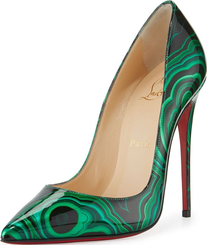 Marbled Christian Louboutin So Kate Pumps