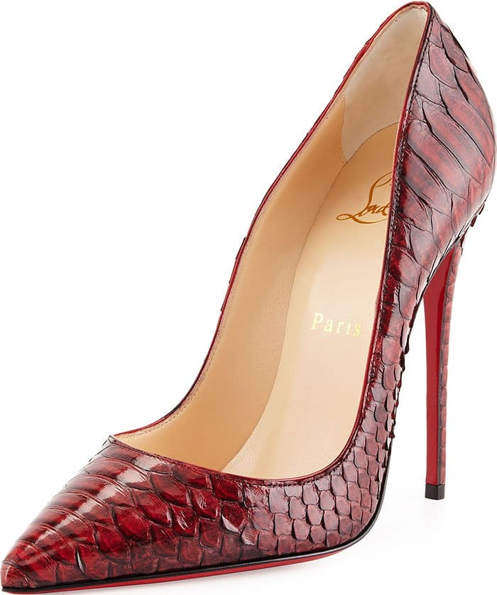 Red Python Christian Louboutin So Kate Pumps