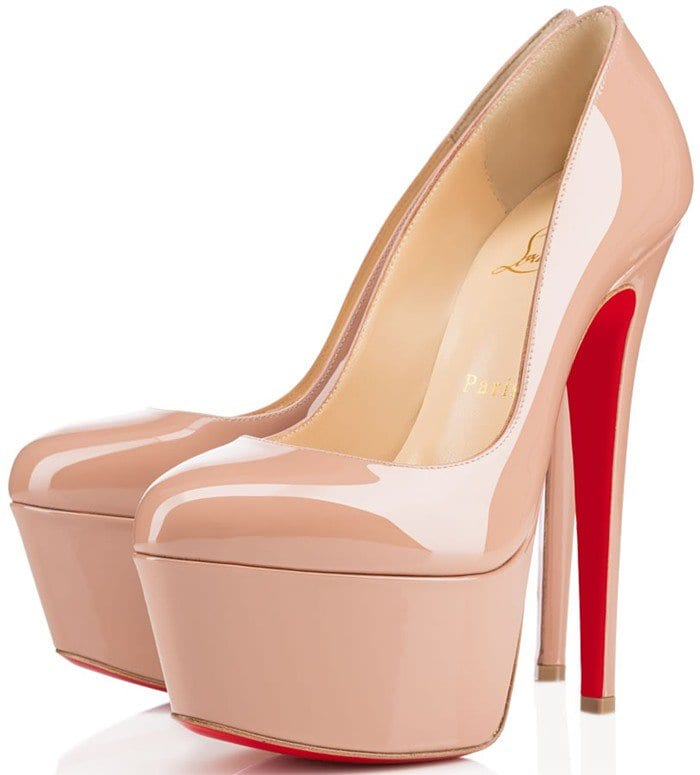 Christian Louboutin 'Victoria' in Nude Patent