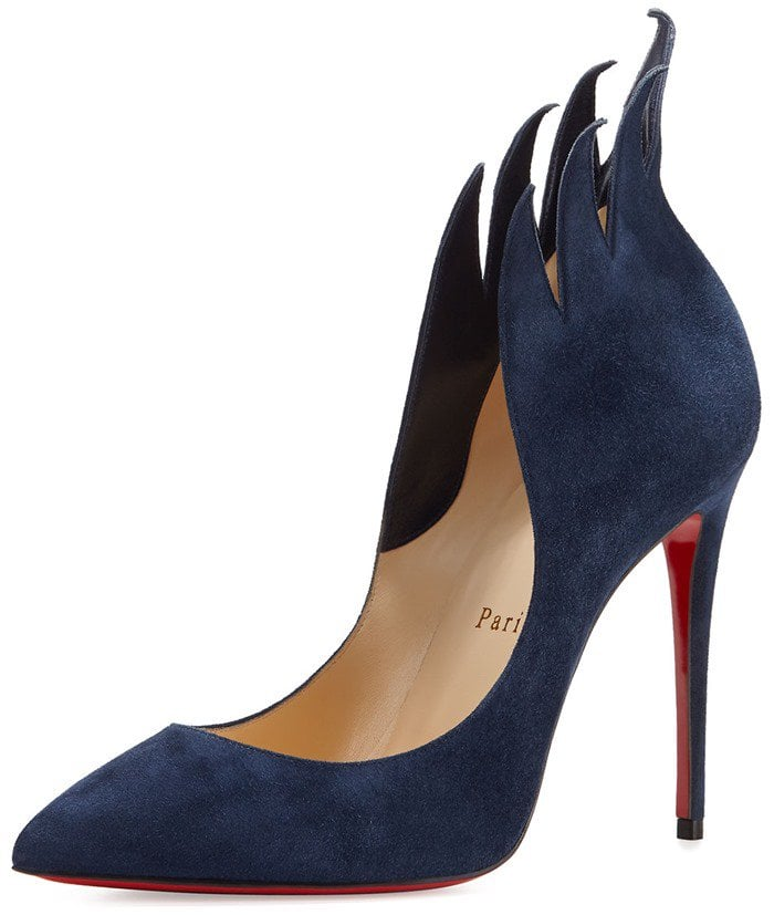 Christian Louboutin 'Victorina' Flame Topline Pointy Toe Pumps Blue