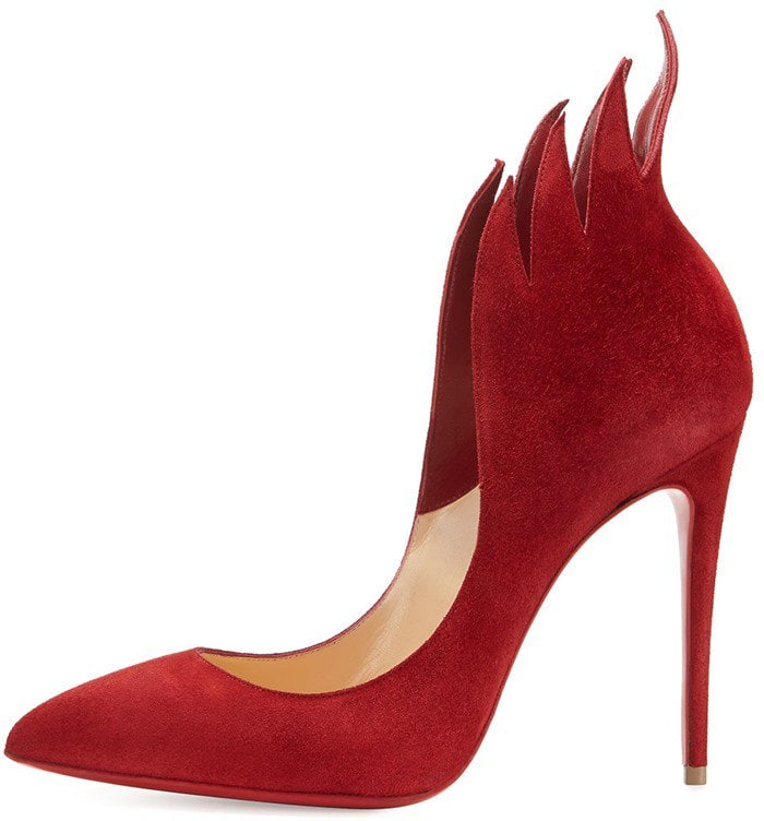 Christian Louboutin 'Victorina' Flame Topline Pointy Toe Pumps Red