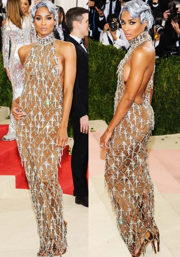 Ciara Met Gala 2016 Stuart Weitzman 3