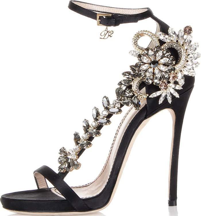 DSquared2-Satin-Sandals-Jewel-Detail