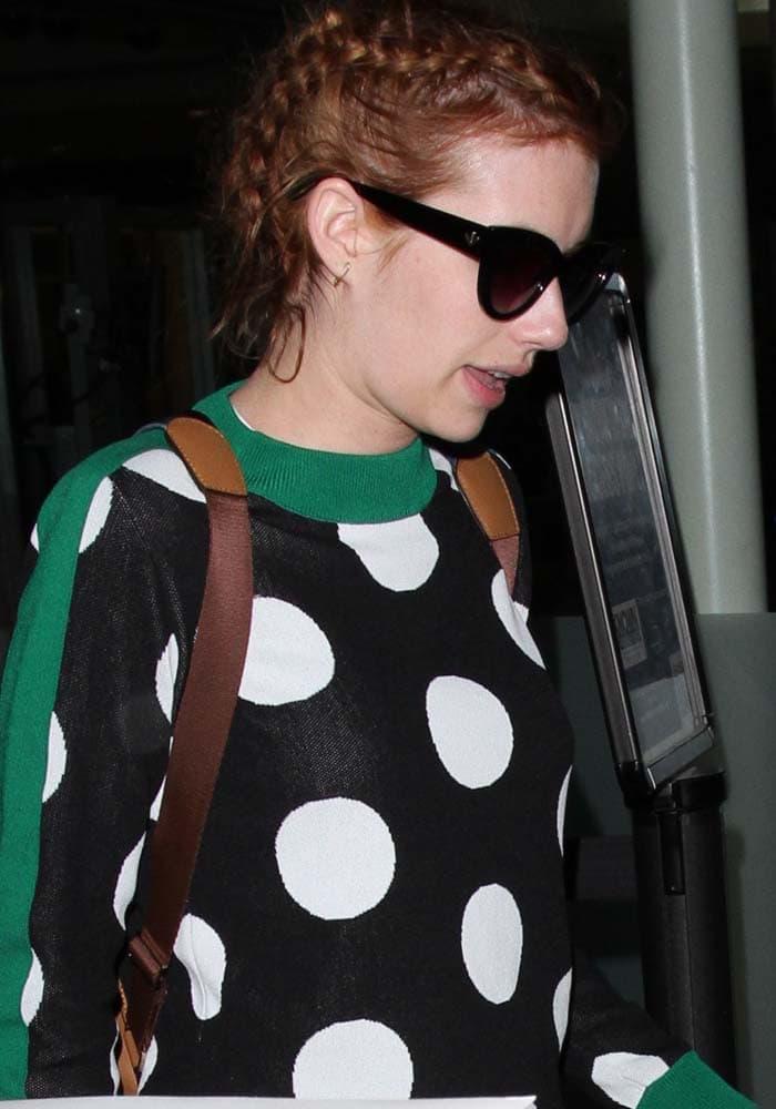 Emma Roberts LAX Tabitha Simmons 1