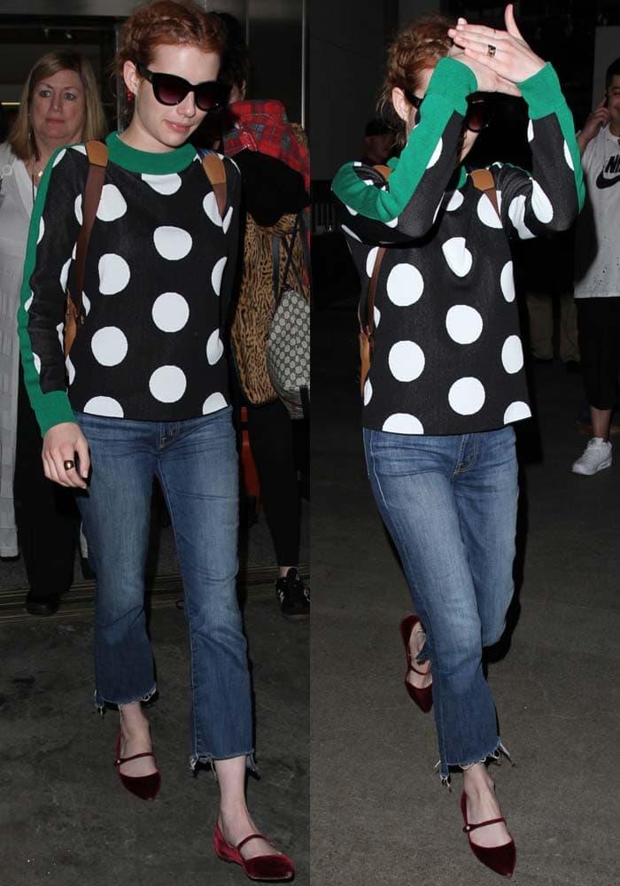 Emma Roberts LAX Tabitha Simmons 3