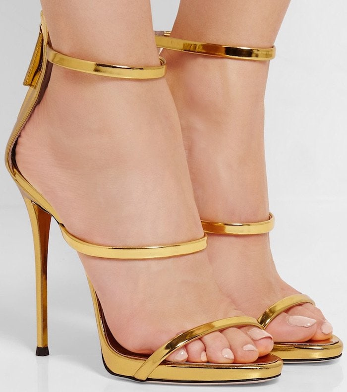 Giuseppe Zanotti's 'Harmony' sandals have a simple three-strap silhouette that elegantly frames and flatters your feet