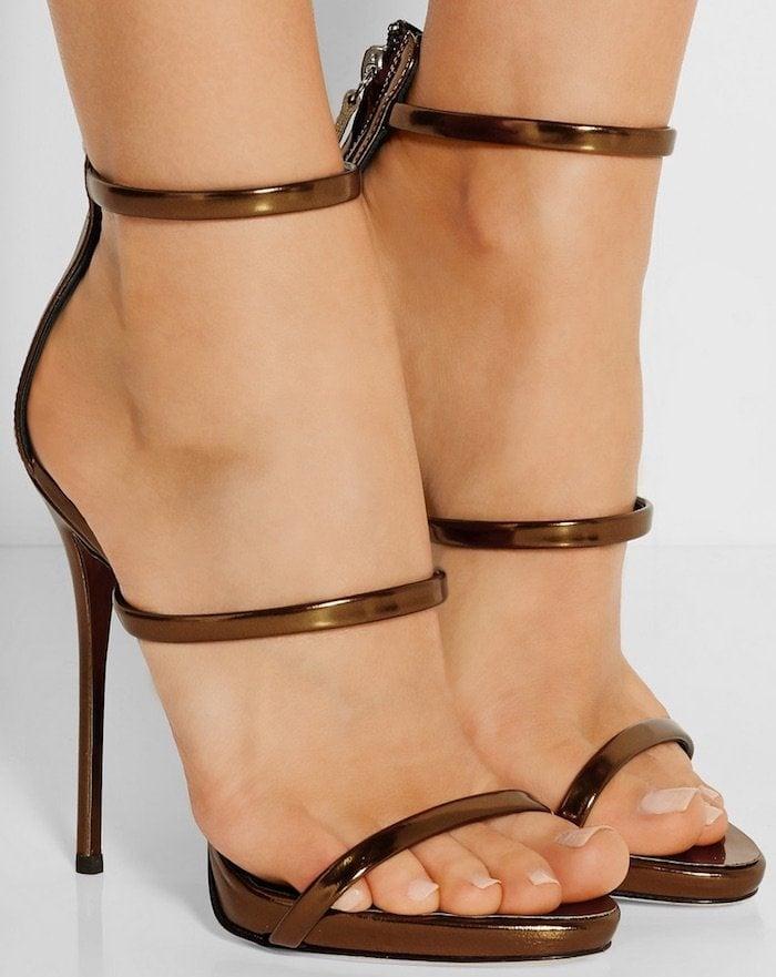"""Harmony"" Sandals in Dark Bronze"