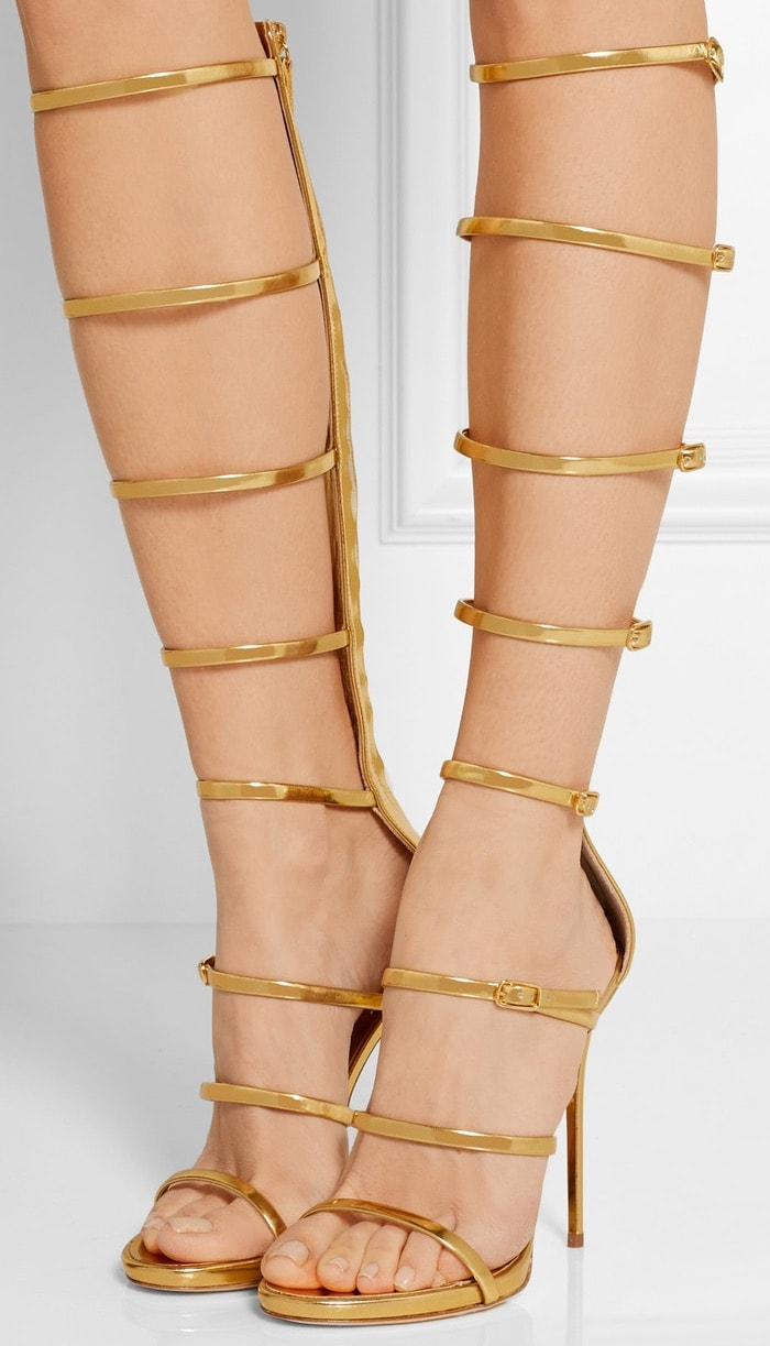 """Super Harmony"" Sandals in Gold"