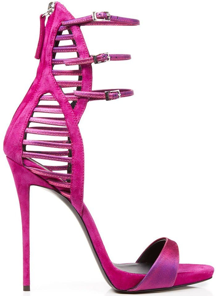 Giuseppe Zanotti Purple Evening Sandals - Coline Caged Back High Heel