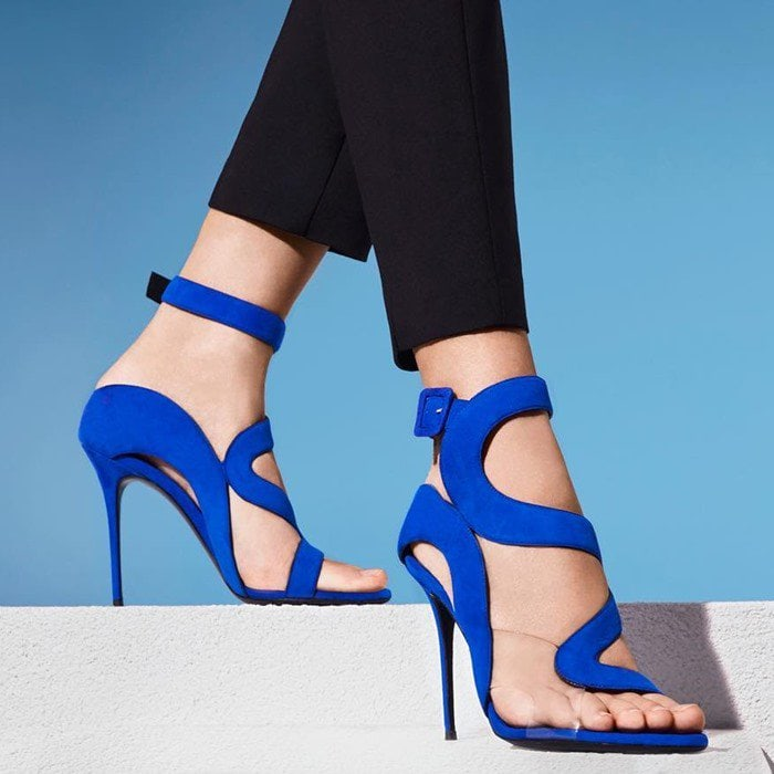 Giuseppe Zanotti Summer Sandals Blue Suede