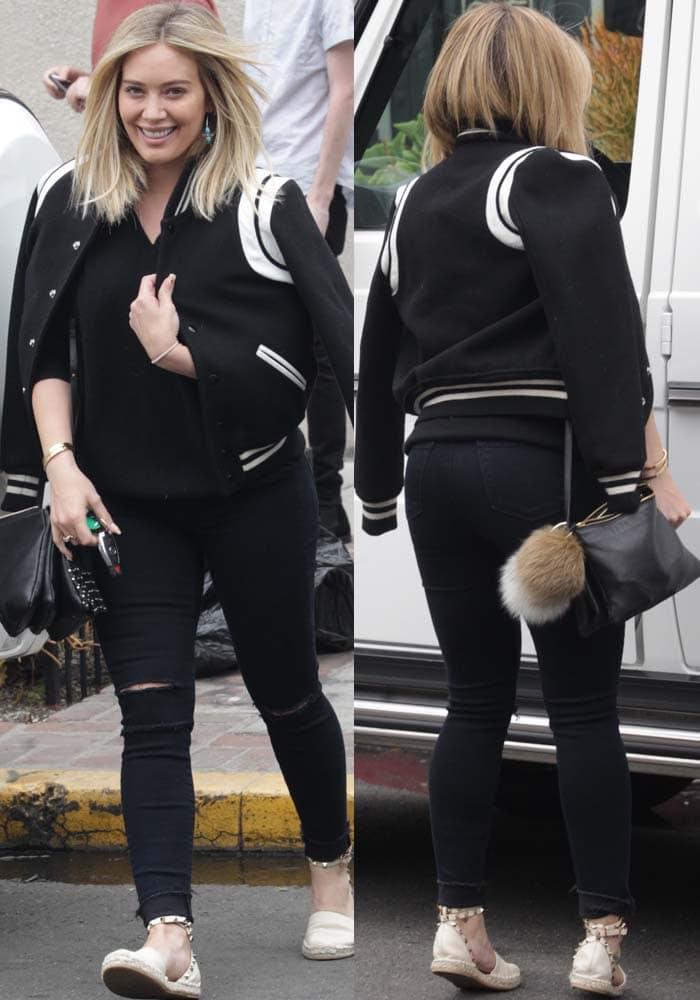 Hilary Duff Hair Salon Valentino 3