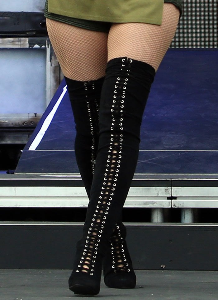 Iggy Azalea Performs In Two Pairs Of Thigh High Boots