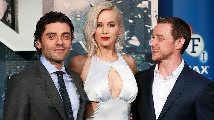 Jennifer Lawrence, Oscar Isaac, and James McAvoy