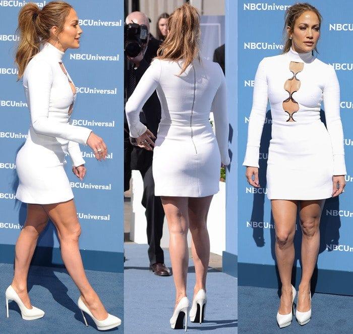 Jennifer Lopez In David Koma Dress With 3 Keyhole Cutouts