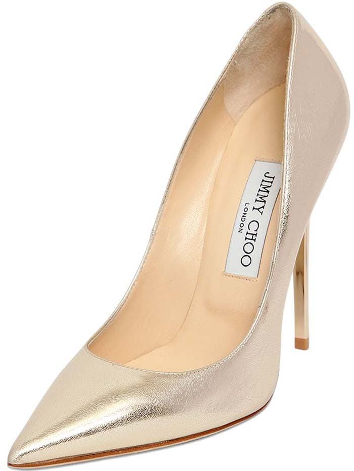 Jimmy Choo Anouk Etched Leather Pumps