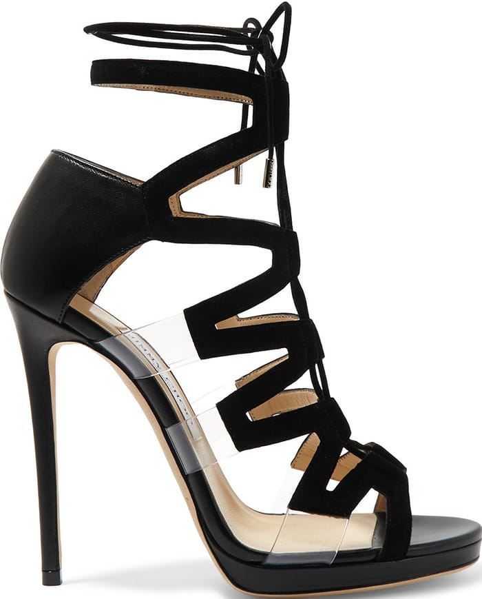 Jimmy-Choo-Dani-cutout-leather-suede-PVC-sandals