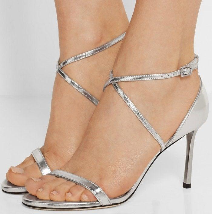 Jimmy Choo Memento Hesper metallic leather sandals