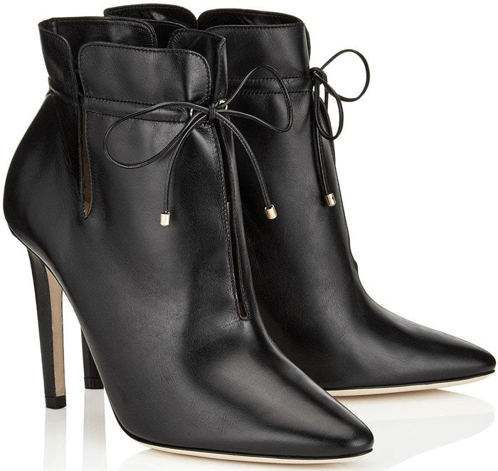 Jimmy Choo Murphy cutout leather ankle boots in black leather