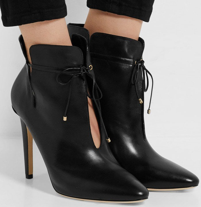 Jimmy Choo Murphy cutout leather ankle boots in black