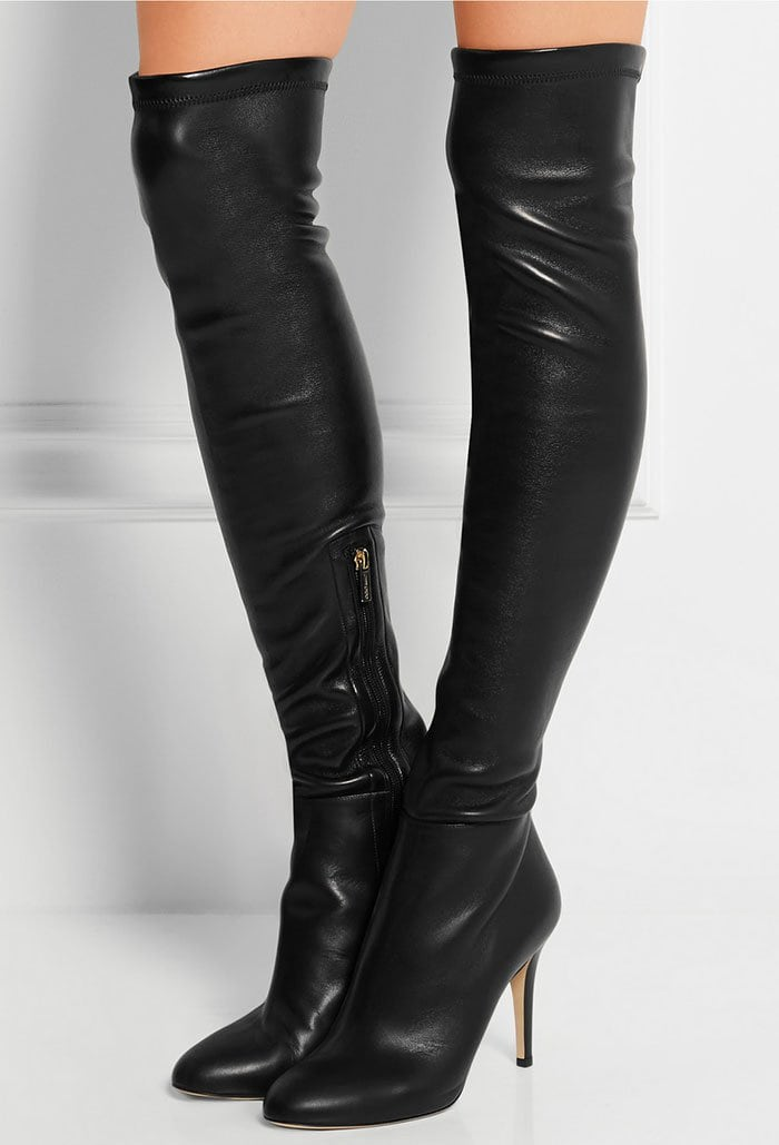 Jimmy Choo 'Toni' Stretch-Leather Over-the-Knee Boots