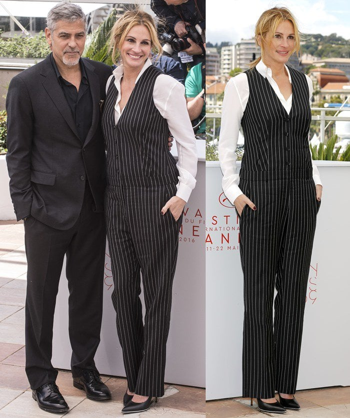 eorge Clooney and Julia Roberts at the photo call for their upcoming film 'Money Monster' held during the 2016 Cannes Film Festival at the Palais des Festivals in Cannes on May 12, 2016