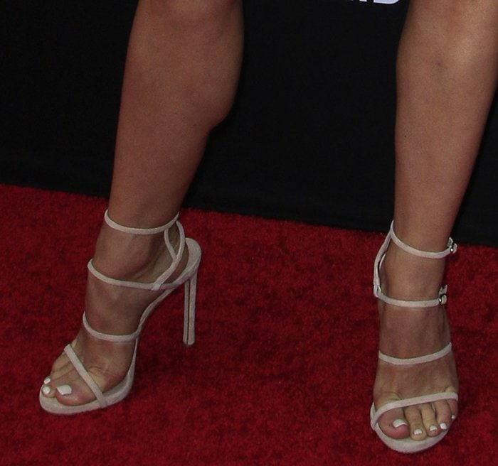 Julianne Hough in Stuart Weitzman sandals