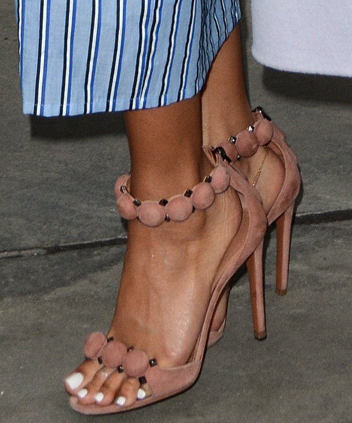 Karrueche-Tran-Azzedine-Alaia-Circle-Detail-Sandals-1