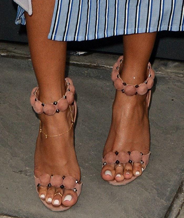 Karrueche-Tran-Azzedine-Alaia-Circle-Detail-Sandals