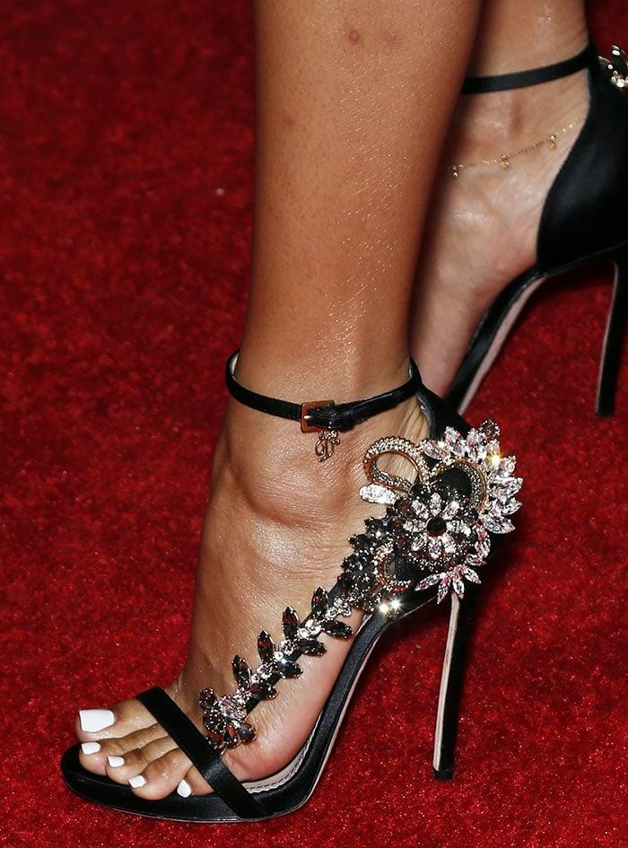Karrueche-Tran-DSquared2-jeweled-sandals