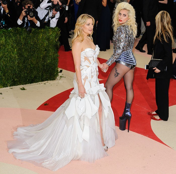 Metropolitan Museum of Art Costume Institute Gala: Manus x Machina: Fashion in the Age of Technology at the Met Museum Featuring: Lady Gaga, Kate Hudson Where: New York City, New York, United States When: 03 May 2016 Credit: WENN.com