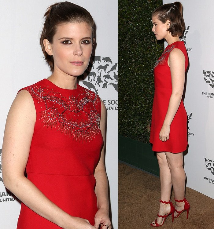 Kate Mara at TheHumane Society of The United States' To The Rescue Gala held at Paramount Studios in Hollywood on May 7, 2016