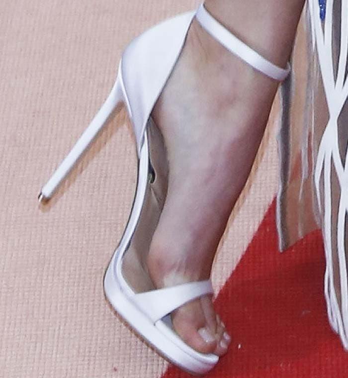 Kendall Jenner's satin Versace sandals