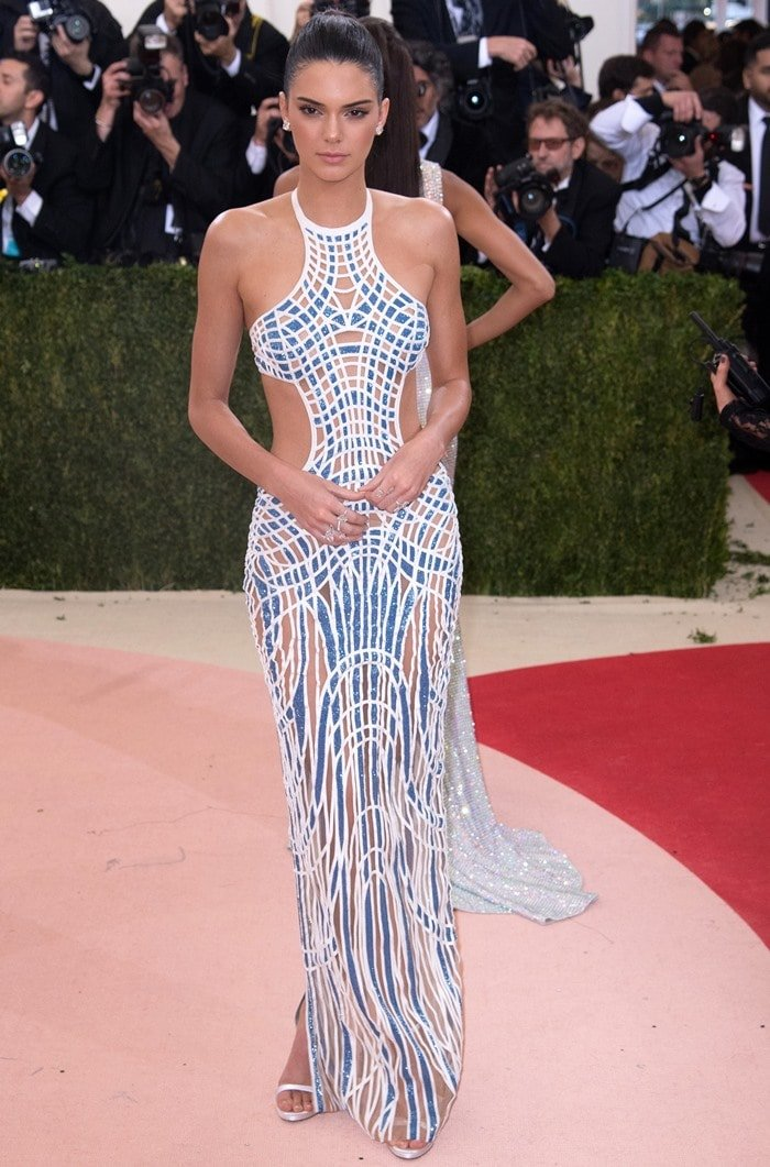 Not feeling Balmain: Kendall Jennerdeparts from the rest of her family's designer of choice