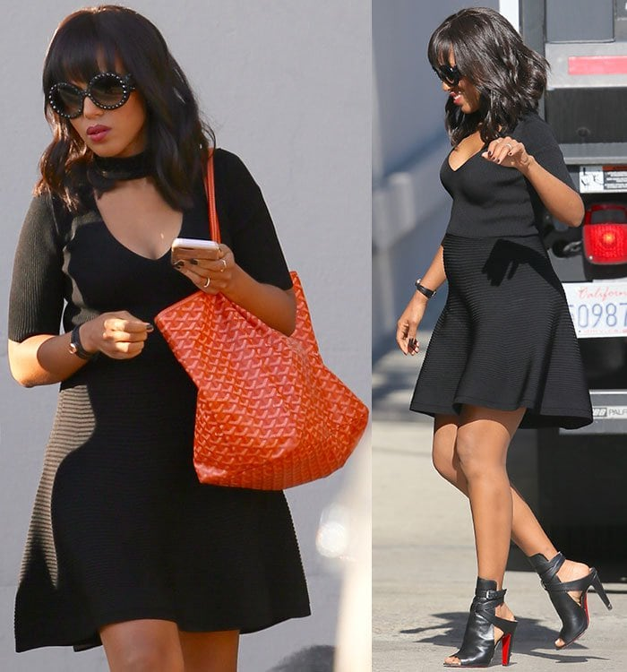 "Kerry Washington arriving at the ABC studios for ""Jimmy Kimmel Live!"" in Los Angeles on May 12, 2016"