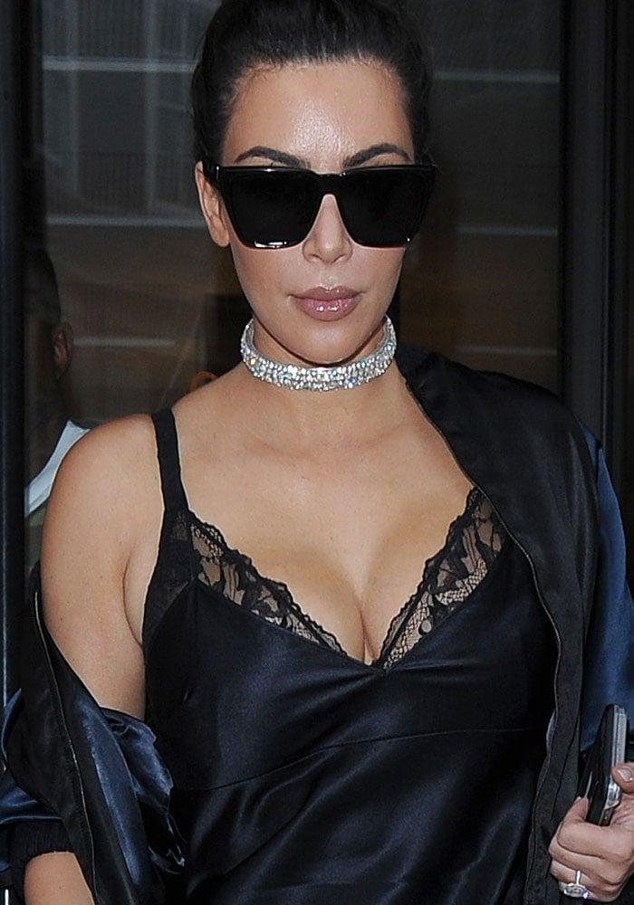 Kim Kardashian Hakkasan London Kanye Purple Boots 1