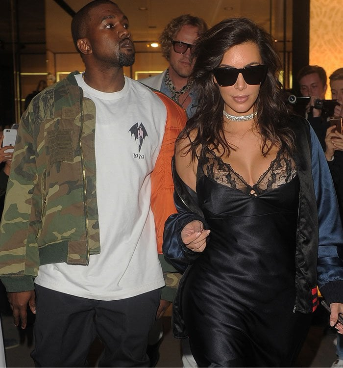 Kim Kardashian Hakkasan London Kanye Purple Boots 4