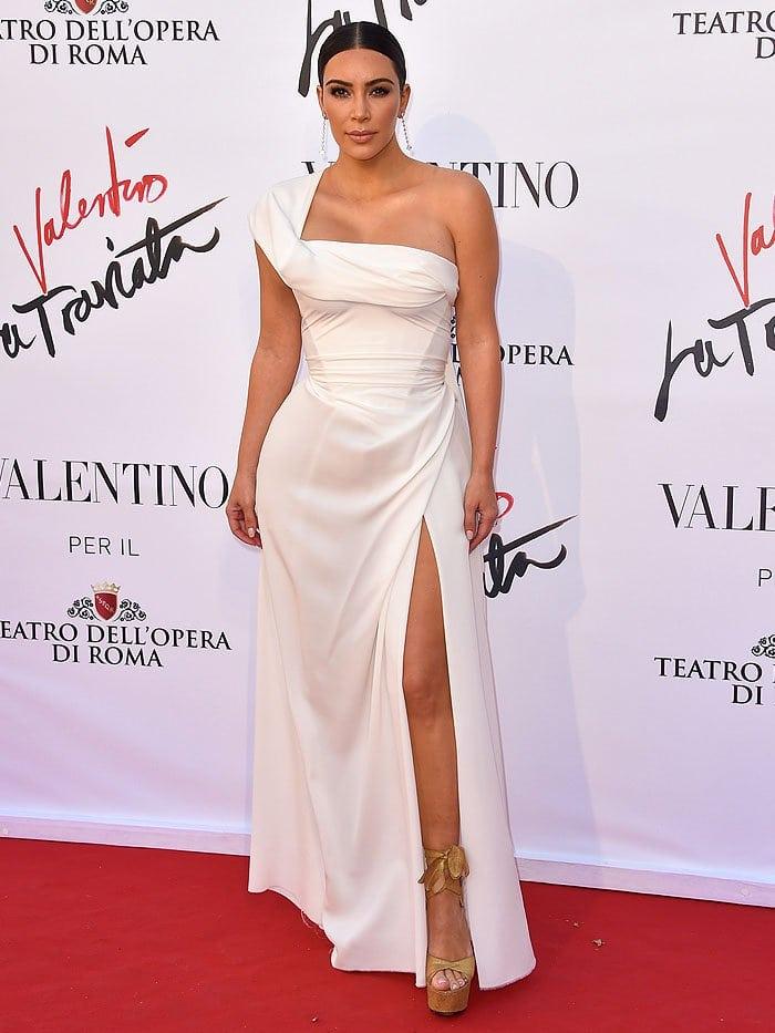 "Kim Kardashian arriving at the ""La Traviata"" Opening Gala held at Teatro Dell'Opera Di Roma"