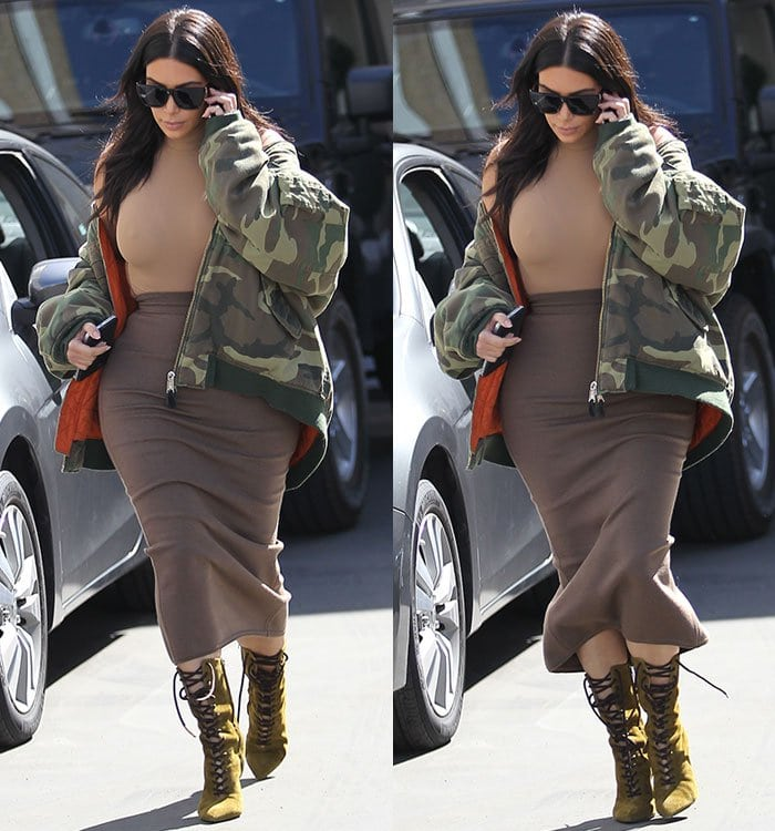 Kim Kardashian leaving Epione Skin Clinic in Beverly Hills on May 12, 2016