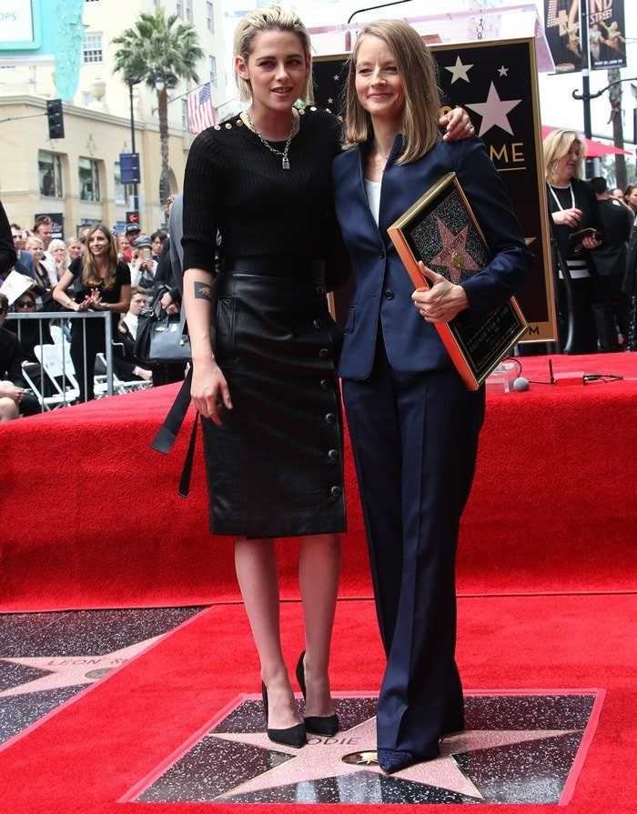 Jodie Foster honoured with star on the Hollywood Walk Of Fame