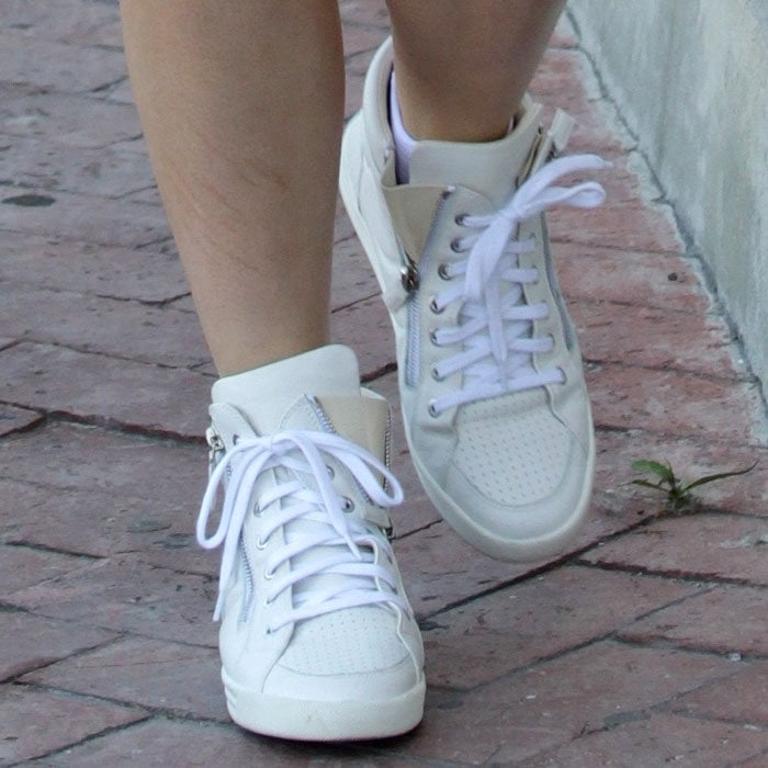 Kylie Jenner Chanel zip high-top sneakers 1
