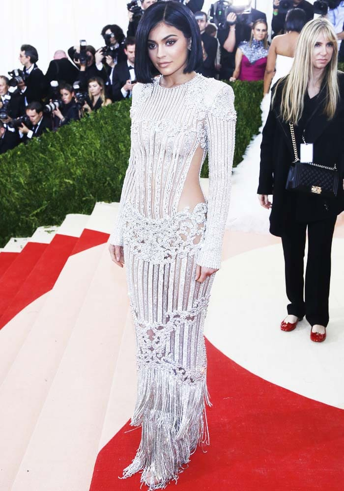 "Kylie Jenner at the ""Manus x Machina: Fashion In An Age Of Technology"" Costume Institute Gala"
