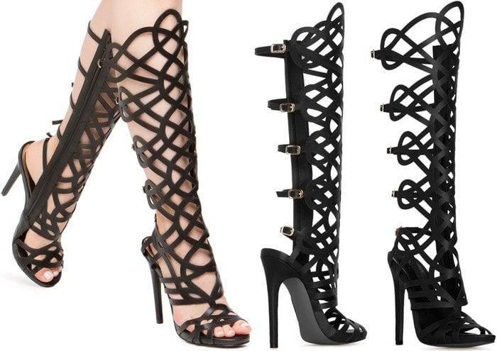 Linyah Knee-High Gladiator Sandals