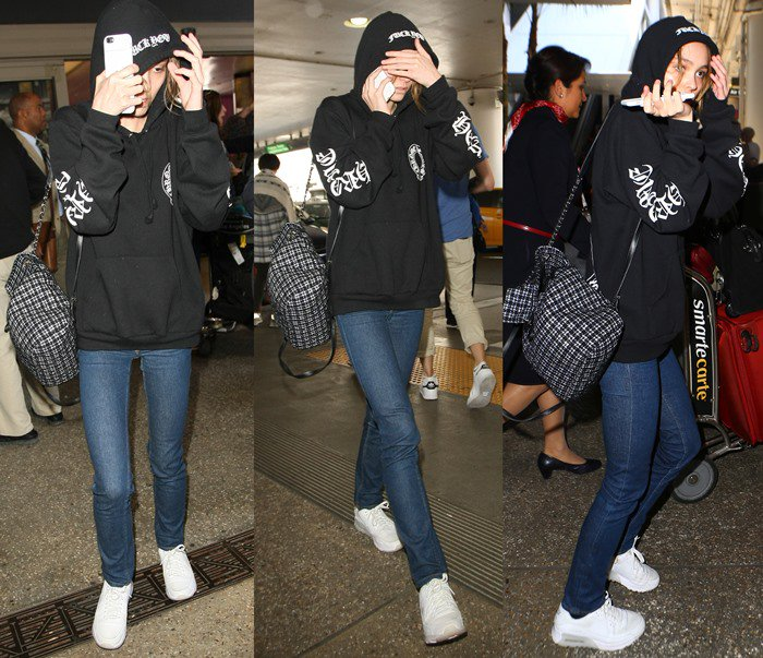 Lily-Rose Depp Airport