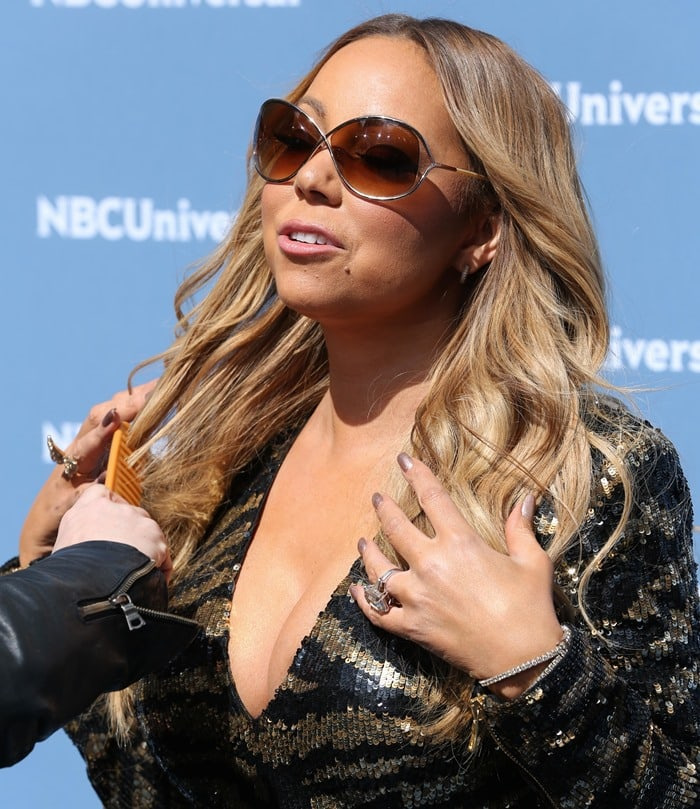 Mariah Carey promoting her new E! reality series 'Mariah's World'