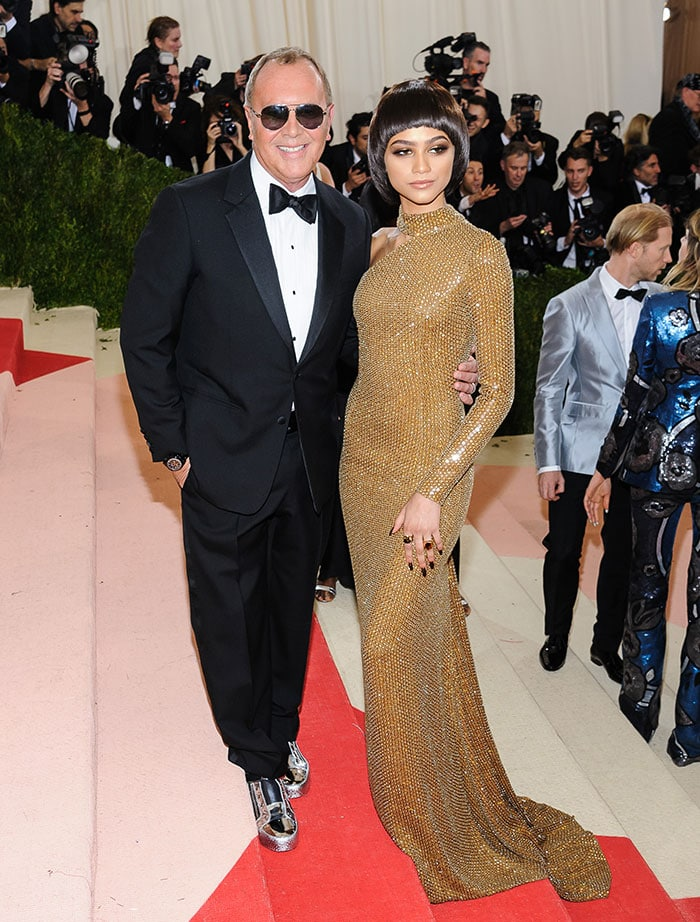 Zendaya and Michael Kors at the Costume Institute Gala 'Manus x Machina: Fashion in the Age of Technology'