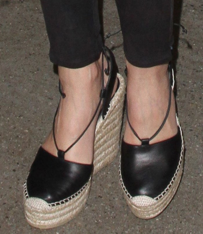 Miranda-Kerr-Saint-Laurent-Leather-Espadrille-Wedge-Sandals-1