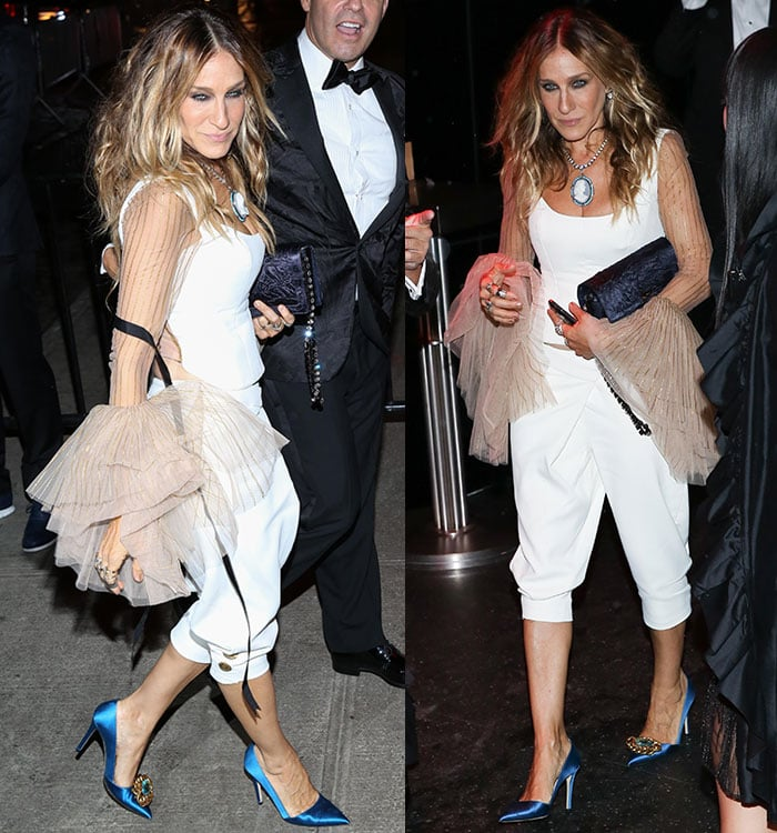 Sarah Jessica Parker's Hamilton-inspired white Monse ensemble